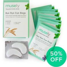 Musely Bye Bye Eye Bags Hydrogel Night Eye Masks (box Of 10) - Celebrate Our Launch With 50% Off!