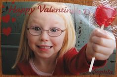 Quick Photo Valentine Card with Lolly