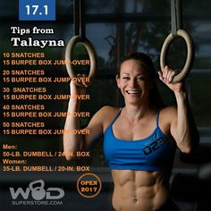 OPEN WOD is here and Dave Castro is starting this season off with a painful one. Talayna Fortunato has tips to not only survive the workout, but strive for a PR! Crossfit Workouts At Home, Crossfit Games, Crossfit Athletes, You Fitness, Health Fitness, Killer Body, Love My Body, Exercises, Workouts
