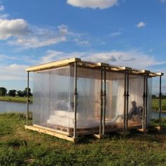 Hotel Shabby Shabby's 22 pop-up guest  rooms included a recycled riverside cabin