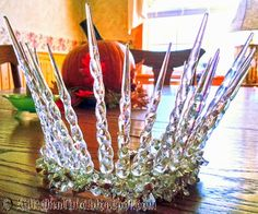 Icicle Tiara made for and worn to 2014 All-Hallows Barn Party.