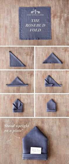 awesome Enchanting Napkin Folding Ideas for Your Most Adorable Table Ever - Servietten Dining Etiquette, Holiday Tables, Dinner Table, Rose Buds, Napkin Rings, Diy And Crafts, Table Settings, Table Decorations, Party