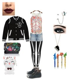 """""""Skeleton Art"""" by lunamaize ❤ liked on Polyvore featuring Chicnova Fashion, Kate Spade, Samsung, Marc Jacobs, Max Factor, Moschino, LASplash, Betsey Johnson and Mother"""