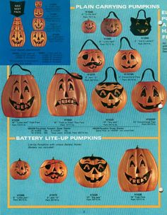 Vintage Halloween ad  Darcy777 - I want all of these but the cat one the most.