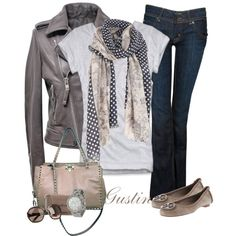 spot scarf, created by stacy-gustin.polyvore.com