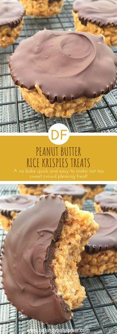 Peanut Butter Rice Krispies Treats (Dairy-Free)