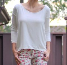 Tutorial: Drapey high-low top from three rectangles of fabric · Sewing | CraftGossip.com