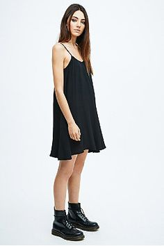 536fd43be61 Minkpink Spin Around Slip Dress in Black Rockstil, Urban Outfitters,  Stiles, Spinning,
