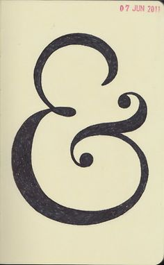 new project: draw some ampersands. #ampersands #draw #stylized