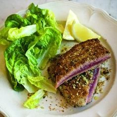 Grilled Fresh Tuna with Savoury Breadcrumbs