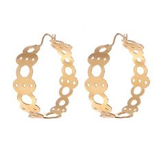 Gold Plated Sterling Silver Hoops.