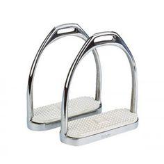 Deze stijgbeugels zijn gemaakt van een zeer hoge kwaliteit roestvrijstaal. Worden standaard geleverd met witte, verwisselbare zooltjes.
