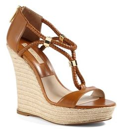 #Michael Kors #Shoes #Michael #Kors #'Sherie #Wedge #Sandal #Luggage Michael Kors 'Sherie ' Wedge Sandal Luggage 39 EU http://www.snaproduct.com/product.aspx?PID=5123781
