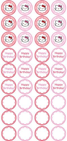 Hello Kitty Cupcake Toppers Printable