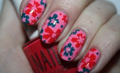 NAIL ART TUTORIAL: LOVE IN BLOOM. Click the photo to see the full tutorial by Polish You Pretty!