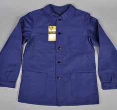 """1940s """"Bleu de Travail"""" French Work Jacket"""