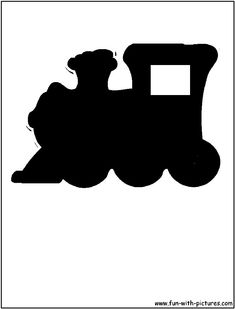 Silhouette Picture - Choo Choo Train Silhouette - print to needed size, cut out, trace on scrapbook paper, cut out again, mount in frame.
