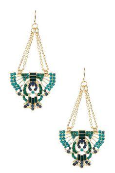Egyptian Winged Emblem Earrings by Olivia Welles on @HauteLook