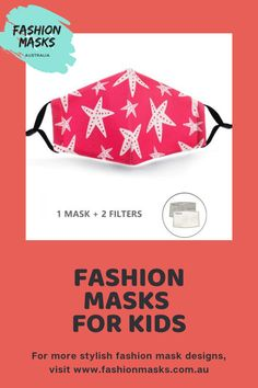 Kids love different styles and shapes and would definitely love the stars designed into the face mask they can wear anytime.   #fashionmasksaustralia #fashion #masks Fashion Mask, Mask For Kids, Star Designs, Mask Design, Different Styles, Masks, Australia, Shapes, Stylish