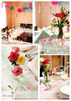 Mint and rose party