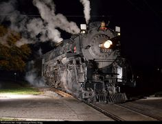 RailPictures.Net Photo: PM 1225 Pere Marquette Steam 2-8-4 at Alma, Michigan by Robby Gragg Night Train, Train Engines, Train Tracks, Trains, Michigan, Train, Railroad Tracks