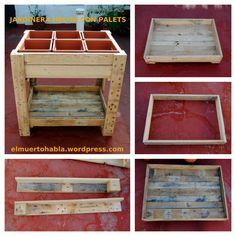 Jardinera hecha con palets (Álora - Febrero 2013). Shelves, Pallets, Diy Ideas, Google Search, Home Decor, Gardens, Upcycle, Candy Table, Vegetable Gardening