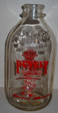 Glass Milk Jug Pevely Super Test Dairy Products St by Luv2Junk, $19.50
