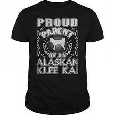 I Love  Proud Parent Alaskan Klee Kai cute tshirts T shirts