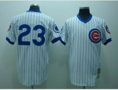 Mitchell /& Ness Ryne Sandberg 1984 Chicago Cubs Authentic Mesh BP Jersey #23