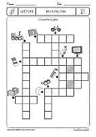 grille de mots crois s imprimer ce2 cm1 th me les verbes mots crois s pinterest. Black Bedroom Furniture Sets. Home Design Ideas