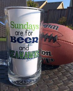 Sea-WHO?! SeaHAWKS! This double-sided beer stein is perfect for the football (and beer) lover in your life. This listing is for a 26.5 oz mug. I