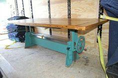 Repurposed industrial base table
