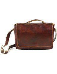 34b68cd3eecf Genuine Italian Leather Messenger Laptop Crossover Flapover Satchel  £199.98 amazon  madeInItaly