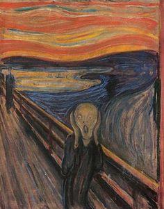 """절규(1893), 에드바르 뭉크 Edvard Munch(1863-1944) 최근 경매 역대 사상 최고가로 낙찰된 뭉크의 절규. 하늘마저 일그러질 만큼 큰 절망을 표현한 작품이라고 하지만, 여러 해석이 나올 수 있는 작품인 듯 싶다. 누군가는 이 그림을 보고 """"재밌다""""고 생각할만큼. 절규하는 인물의 모습에 약간의 추상적인 요소가 가미되어서 그런 것이 아닐까. 오히려 절망받은 순간에 하하하 웃음으로 위로를 줄 수 있는 그림일지도."""