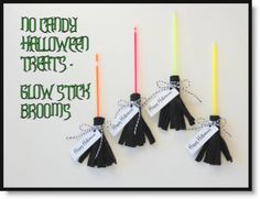 No Candy Halloween Treats – Glow Stick Brooms