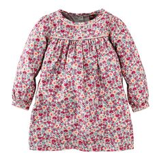 You won't mind letting your little girl run the playground during the colder months in this stylish Wiesenblumen Sateen Dress for girls from Tea Collection.