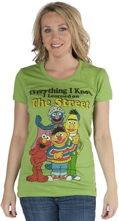 Sesame Street Jr Learned on T-Shirt