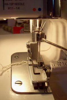 Hello serger! top: part 1 can be found here . Now that your pattern is all set, it's time to play with the serger. To start, you want to la...