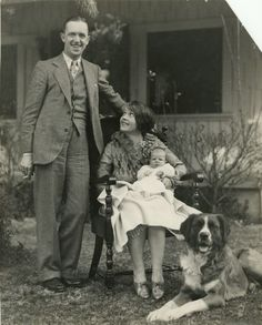 0 Stan Laurel, his wife Lois Neilson, their newborn daughter Lois, and their dog Lady 1927