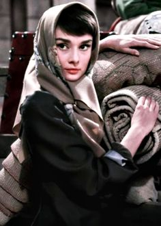 Audrey Hepburn in War and Peace, 1956