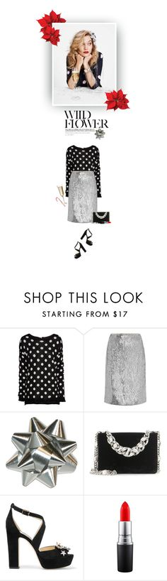 """""""Day Dreamer"""" by hollowpoint-smile ❤ liked on Polyvore featuring H&M, J.Crew, Miu Miu, Jimmy Choo and MAC Cosmetics"""