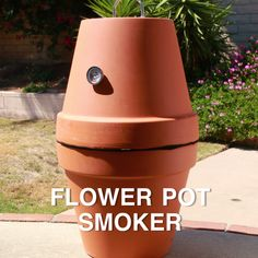 Terra-Cotta BBQ SmokerFosterginger.Pinterest.ComMore Pins Like This One At FOSTERGINGER @ PINTEREST No Pin Limitsでこのようなピンがいっぱいになるピンの限界 Flower Pots, Bbq, Planter Pots, Barbecue, Planters, Barrel Smoker, Plant Pots