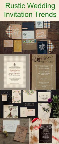Rustic Wedding Invitation Trends