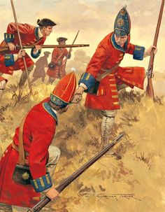 British 1st Foot Guards at the Battle of Blenheim                              …