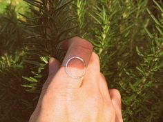 MY FAVORITE RING! Sterling Silver Large Circle Ring   Wear It Jewelry