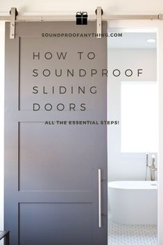 Sliding Doors can be tough to properly soundproof, make sure to read this article to learn how to do it the right way! Exterior Doors With Glass, Glass Barn Doors, Sliding Patio Doors, Sliding Glass Door, Sliding Barn Door Lock, Sliding Bathroom Doors, Barn Door Locks, Bathroom Barn Door, Diy Barn Door