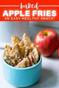 These oven baked cinnamon apple fries are not only an easy healthy snack, but a healthy alernative to the traditional apple crisp! Also a great snack for kids! Just 90 calories per serving!