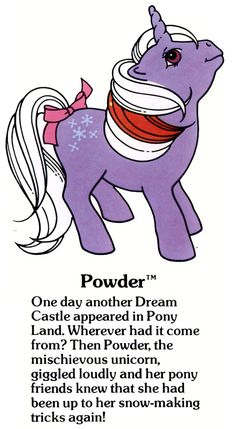 My Little Pony Powder fact file ...