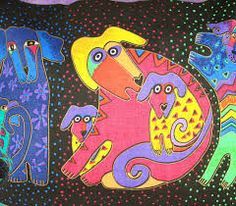 Pet Gear Dog Stroller And Their Panoramic View Laurel Burch, Fashion Painting, Cat Crafts, Dog Show, Canvas Pictures, Acrylic Art, Dog Art, American Artists, Art Studios