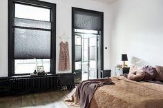 Interior Styling, Interior Design, Black Curtains, Window Dressings, Lookbook, Window Coverings, Windows And Doors, Interior Inspiration, Master Bedroom